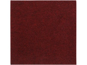 Andiamo ANDIAMO Teppichfliese »Rippe Nadelfilz«, 16 Stück (4 m²), selbstklebend, rot, rot
