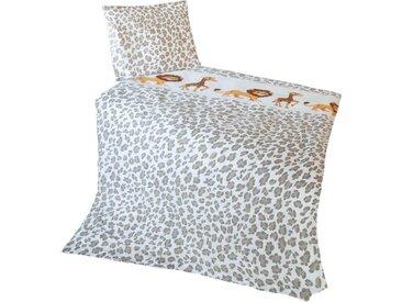 Goldmond Kinderbettwäsche »Löwe und Giraffe«, mit niedlichem Print