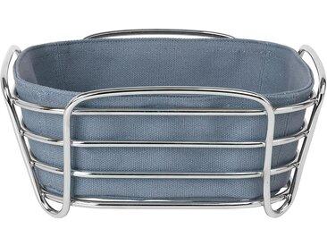 BLOMUS Brotkorb »DELARA«, Stahl, Baumwolle, (1-tlg), 21x21 cm, blau, graublau-silberfarben