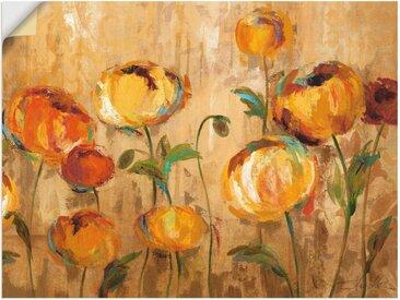 Artland Wandbild »Freudige Ranunkel«, Blumen (1 Stück), Wandaufkleber - Vinyl