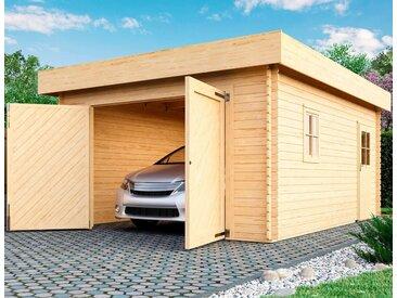 Karibu Garage »Marko«, BxT: 415x572 cm, 193 cm Einfahrtshöhe, mit Dachfolie