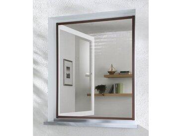 hecht international HECHT Insektenschutz-Fenster »MASTER SLIM«, braun/anthrazit, BxH: 100x120 cm, grau, Fenster, 100 cm x 120 cm, anthrazit