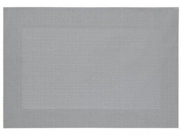 Platzset, grau, silberfarben-grau