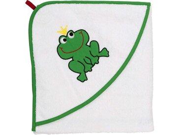 Smithy Kapuzenhandtuch »Froschkönig« (1-St), großes Maß 100 x 100 cm