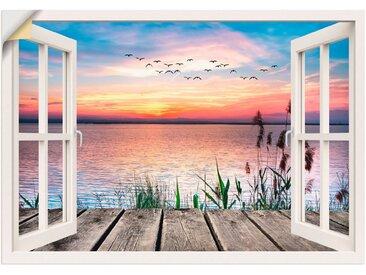 Artland Wandbild »See in den Farben der Wolken«, Fensterblick (1 Stück), Wandaufkleber - Vinyl
