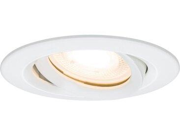 Paulmann LED Einbaustrahler »Nova rund max. 35W Weiß 1er-Set schwenkbar GU10 oder GU5,3«