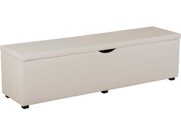 """Places of Style Hockerbank »Standard«, mit Stauraum, Breite 120 cm und 160 cm, weiß, Für Bett """"Natura"""", altweiß"""