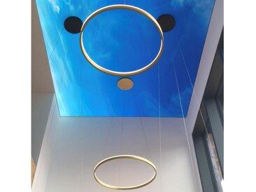 s.LUCE Pendelleuchte » Ring 100 direkt oder indirekt LED-Hängelampe«, silberfarben, Chrom