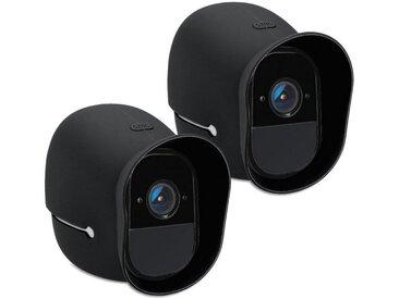 kwmobile Kameratasche, 2x Hülle für Arlo HD - Silikon Security Camera Cover Schutzhülle Kamera, schwarz, schwarz