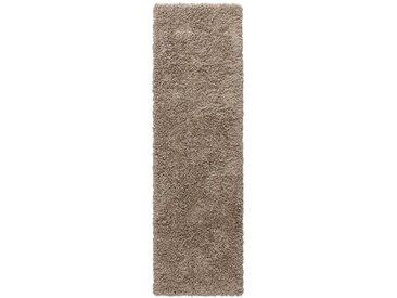 Home affaire Hochflor-Läufer »Shaggy 30«, rechteckig, Höhe 30 mm, gewebt, natur, caramel