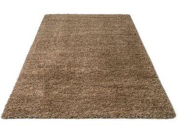 Home affaire Hochflor-Teppich »Shaggy 30«, rechteckig, Höhe 30 mm, gewebt, Wohnzimmer, braun