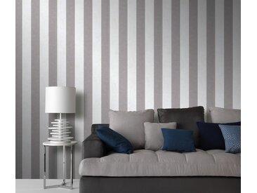 Erismann Vinyltapete, Wandtapete, 10077-14 Carat Carat Wandtapete Streifen/Wellen creme Vlies Tapete