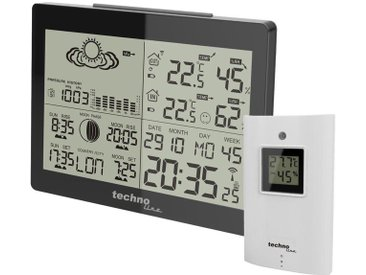technoline »WS 6760 Wetterstation« Wetterstation (inkl. Außensender mit Temperaturanzeige/Luftfeuchteanzeige Sonneauf- und Untergang, Mondphase