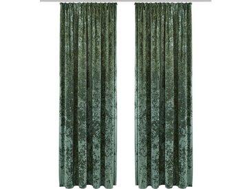 my home Vorhang »Velvet«, Kräuselband (1 Stück), grün, dunkelgrün
