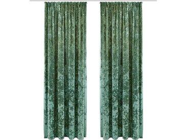 my home Vorhang »Velvet«, Kräuselband (1 Stück), Samt Uni, grün, dunkelgrün