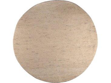 Theko Exklusiv Wollteppich »Agadir 1«, rund, Höhe 25 mm, echter Berber, reine Wolle, handgeknüpft, natur, beige