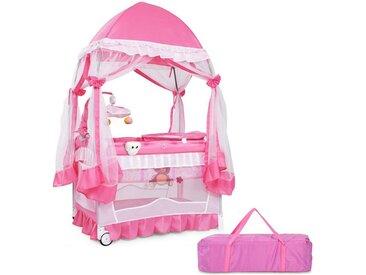 COSTWAY Kinderbett »Reisebett Babybett mit Laufstall«