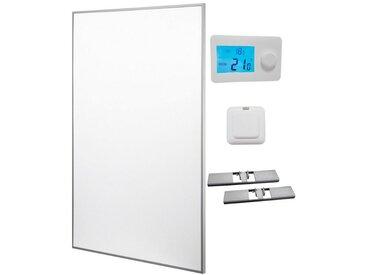 RÖMER Infrarot Heizsysteme Infrarotheizung 60 x 90 cm, inkl. Funkthermostat & Empfänger, weiß, weiß
