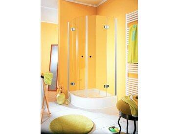 Schulte SCHULTE Runddusche »Youngline«, Viertelkreisdusche, BxT: 90 x 90 cm, silberfarben, Anti-Kalkversiegelung: Nein, silberfarben