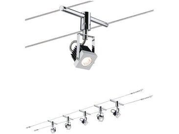 Paulmann LED Deckenleuchte »Wohnzimmerlampe LED 5x5W Mezzo 230/12V, Weiß«, Seilsystem
