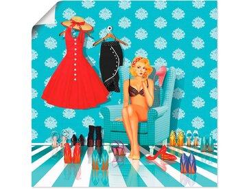 Artland Wandbild »Ich habe nichts zum anziehen«, Mode (1 Stück), Poster