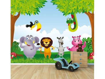 Bilderdepot24 Deco-Panel, Fototapete Kindertapete - Tiere Cartoon, bunt, Farbig