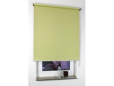 Liedeco Seitenzugrollo »Struktur«, verdunkelnd, ohne Bohren, Uni, im Festmaß, grün, lindgrün