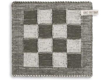 Knit Factory Tischdecke »Topflappen Block Ecru/Khaki«