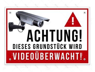 Despri Metallschild »PVC Schild - Videoüberwachung, S0002, 30x20 cm, 3mm, UV-Lack, 4-Fach Eckbohrungen«