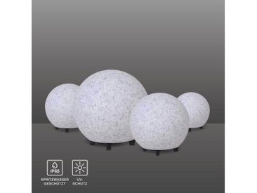 SellTec Kugelleuchte »FADIA SET«, 4er Stein Optik SET 20, 30, 40 + 50cm Granit