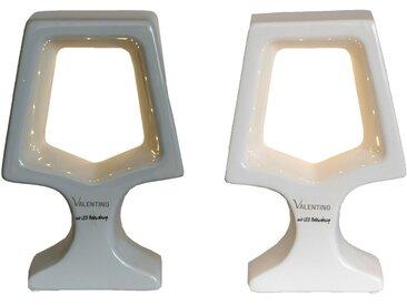 VALENTINO Wohnideen LED Dekolicht »Adea«, 2er Set, 1x grau + 1x weiß