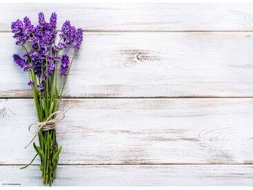 Tischsetmacher Platzset, »Tischset I Platzset - Blumen - Lavendel auf Holz - 12 Stück aus hochwertigem Papier in Aufbewahrungsmappe