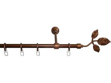 GARESA Gardinenstange »Rustika Blatt«, Ø 16 mm, 1-läufig, Wunschmaßlänge, gelb, 1 läufig, bronzefarben