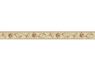 A.S. Création Bordüre »Only Borders«, aufgeschäumt, Barock, mit Blumen, floral, selbstklebend, braun, hellgelb-braun