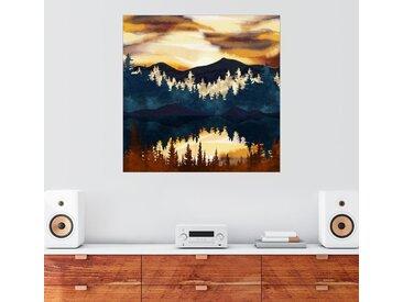 Posterlounge Wandbild, Herbstlicher Sonnenuntergang, Premium-Poster