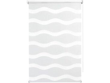 Good Life Doppelrollo »WAVE«, Lichtschutz, ohne Bohren, weiß, weiß