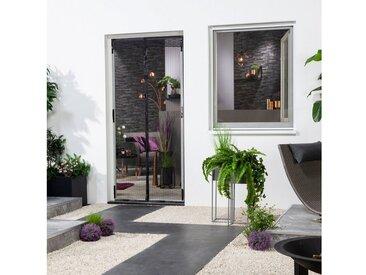 hecht international HECHT Insektenschutz-Vorhang BxH: 100x220 cm, mit Bordüre, weiß, 100 cm x 220 cm, 100 cm x 220 cm, Türen