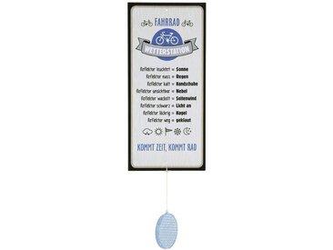 GILDE Metallschild, Wetterstein, Wetterstation als Aluschild, Modell Fahrrad mit Reflektor, Material Metall, Maße Schild 30 x 14 cm