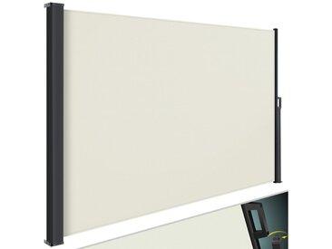 KESSER Seitenmarkise Markise ausziehbar Blickdicht Sichtschutz & Windschutz für Garten Balkon & Terrasse Seitenrollo mit Wandhalterung, natur, beige