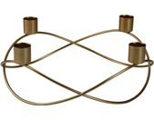 AM Design Kerzenhalter, Adventsleuchter, aus Metall, Höhe ca. 8 cm, goldfarben