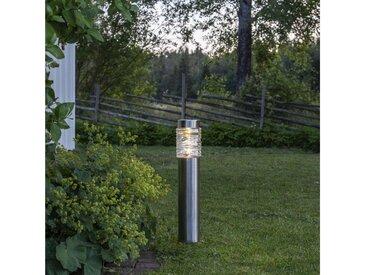 STAR TRADING LED Pollerleuchte »LED Solar Wegleuchte Capri - Edelstahl - warmweiße LED - H: 57cm - Lichtsensor«