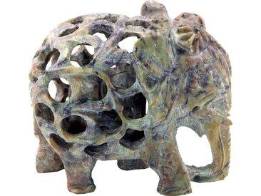 Guru-Shop Dekofigur »Speckstein Elefant«