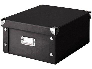Zeller Present Aufbewahrungsbox, schwarz, schwarz