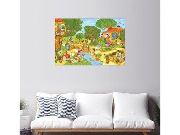 Posterlounge Wandbild, Garten im Sommer, Premium-Poster