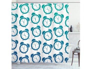 Abakuhaus Duschvorhang »Moderner Digitaldruck mit 12 Haken auf Stoff Wasser Resistent« Breite 175 cm, Höhe 180 cm, Retro Vintage Wecker Patterns