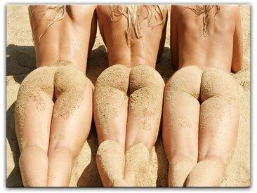 Bilderdepot24 Leinwandbild, Leinwandbild - Frauen am Strand