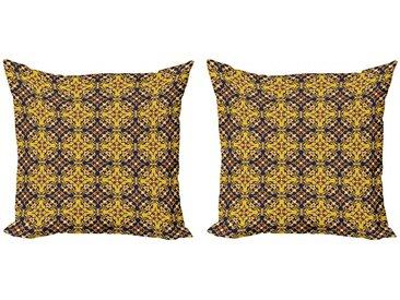 Abakuhaus Kissenbezug »Modern Accent Doppelseitiger Digitaldruck«, Mosaik Oriental Flower Fliesen Motiv