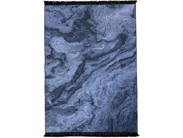 Siela Teppich »1812_Schwarz«, quadratisch, Höhe 5 mm, Waschbar in der Waschmaschine Modern Wohnzimmer Deko Rutschfest Schwarz