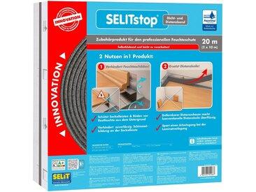 Selit SELIT Dichtband »SELITstop«, mit integriertem Distanzband, silberfarben, 1 x 10 m, anthrazit/silberfarben