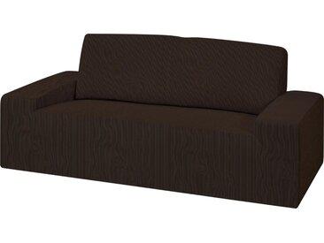 Dohle&Menk Sofahusse »Creta«, hochwertige Stretchware, braun, 2-Sitzer, braun